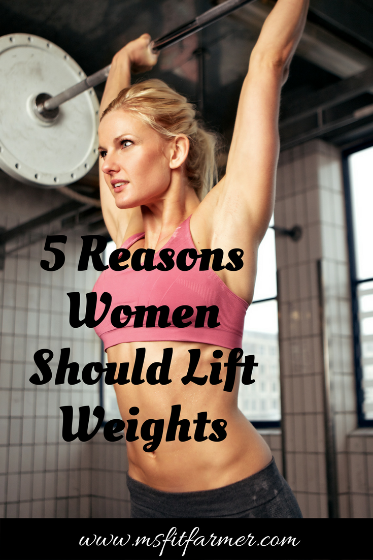 Top Reasons Why Women Should Lift Weights | Fitness, Health and Wellness | More at https://msfitfarmer.com