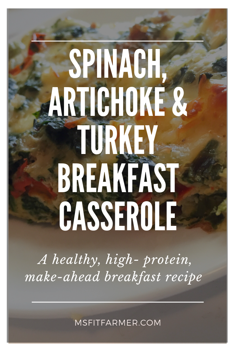 Artichoke, Spinach and Cheese Breakfast Casserole (High-Protein)