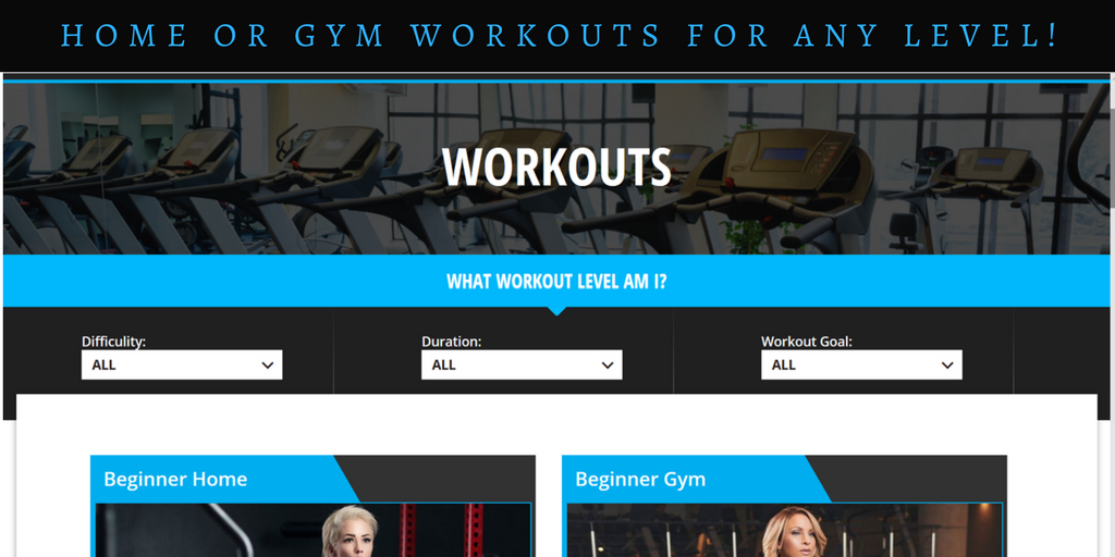 workouts for any exercise level