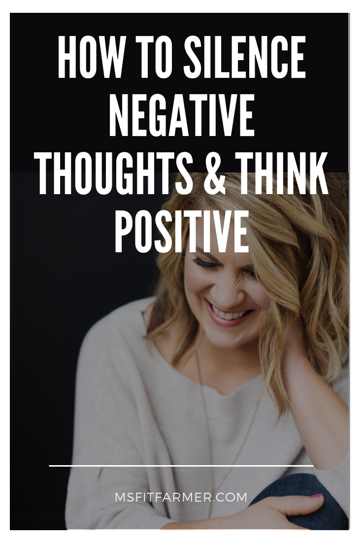 Learn how to improve your mindset with these 4 simple steps to positive thinking! These tips will help you silence negative thoughts and inspire you to live happier. A healthy mindset is crucial to living a wonderfully full life. Whether you are a woman who suffers from low self-esteem or you\'re just in need of a little pep talk to boost your mood, this blog post is for you!