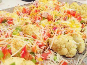 Great=tasting, healthy, clean-eating cauliflower nacho recipe. More at www.msfitfarmer.com