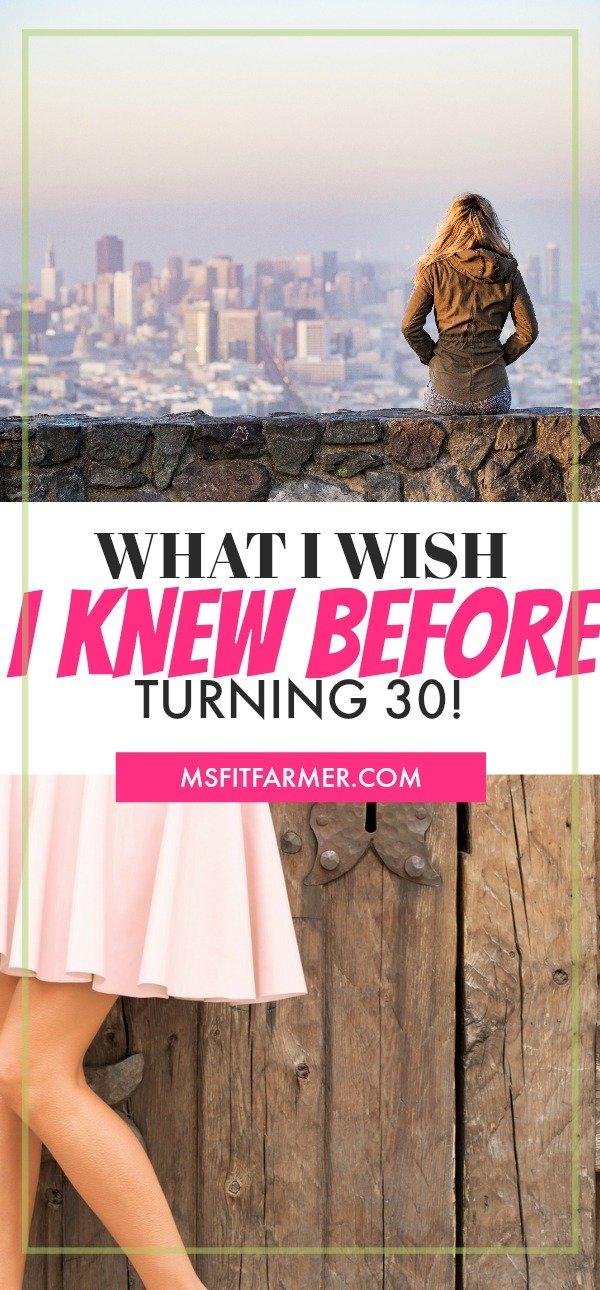 What I Wish I had Known In My Twenties. More inspiration at www.msfitarmer.com