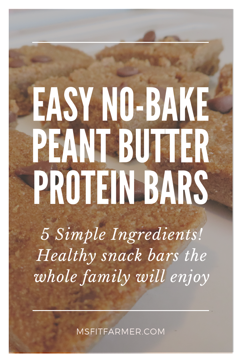 Easy, No-Bake Peanut Butter Protein Bars