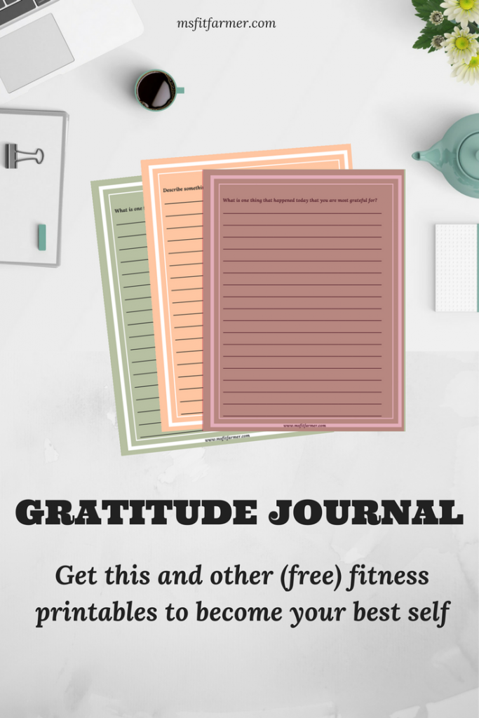 Gratitude Journal | Positive Thinking | Transform Your Life by Being Grateful | Thanksgiving | Power of Positive Attitude | Optimistic | More Health, Wellness and Fitness at msfitfarmer.com