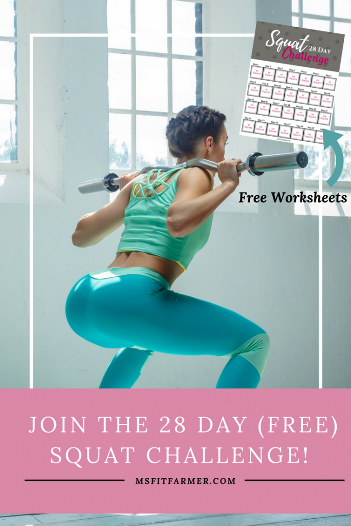 Squat Challenge | Free Fitness Challenge | Fitness Journey | Easy Weight Loss | Fat Loss | Fast Weight Loss | Healthy Habits | Support and Inspiration | More Health, Fitness and Wellness at https://msfitfarmer.com