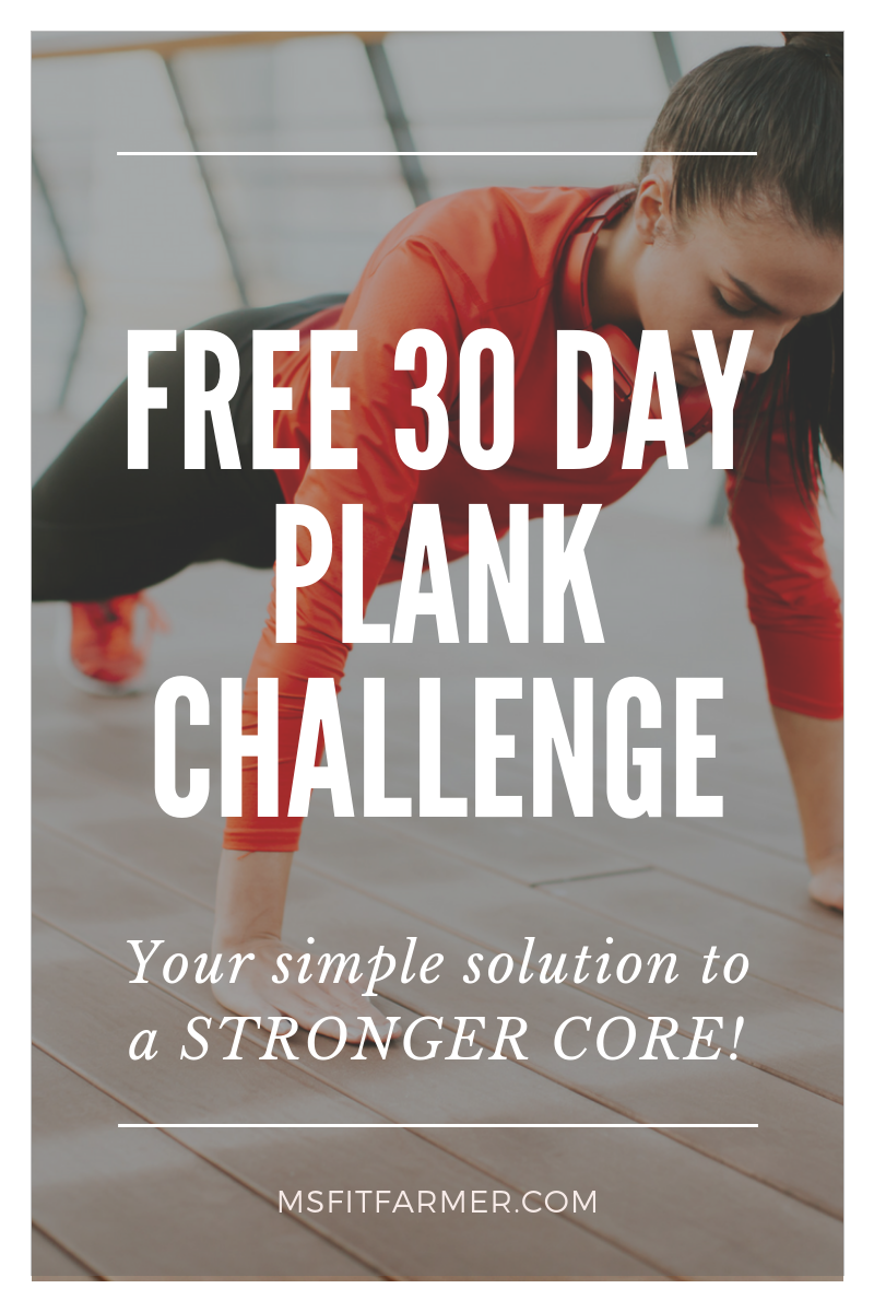 Jump start your fitness results with this [free] 30 Day Plank Challenge! Printable included. Beginners, as well as intermediate and advanced fitness enthusiasts will benefit from this core strengthening challenge! The plank is one of the BEST core exercises to work your abs from all angles. Try it for a month and see what results are possible!