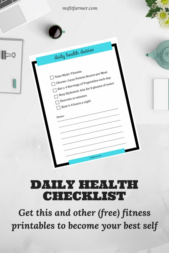 Daily Health Checklist | Weight Loss | Gym Tips for Beginners | Beginner Workouts | Fitness Tips | Conquer your fear of the Gym | Healthy Hacks | Start a Fitness Routine | More Health, Wellness and Fitness at https://msfitfarmer.com