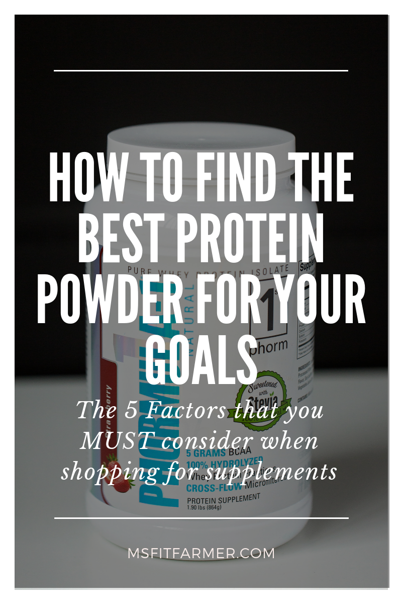 Finding the Best Protein Powder for Weight Loss: 5 Factors to Consider