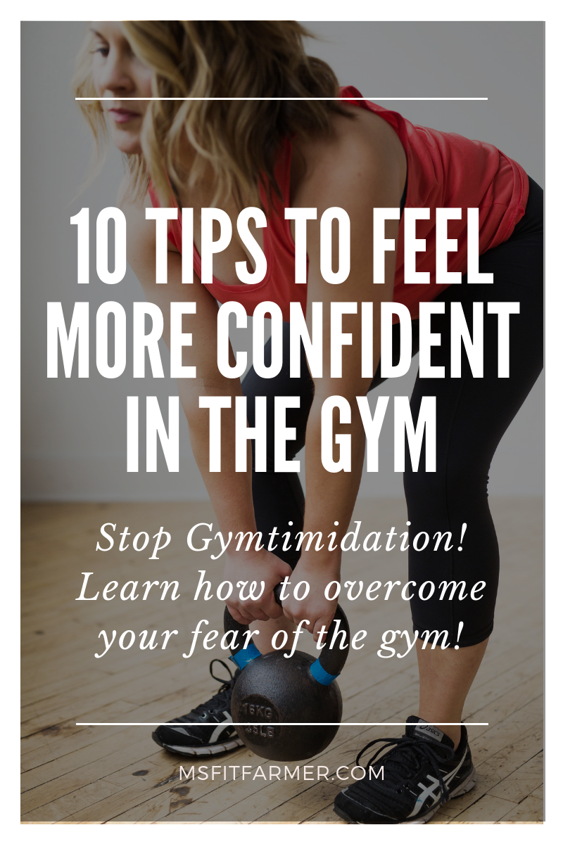 Overcome you fear of the gym with these 10 stupid-simple tips that are guaranteed to make you feel more confident while working out! Gymtimidation doesn\'t have to stop you from exercising and ultimately losing weight. You CAN reduce your anxiety and go from couch potato to gym regular!
