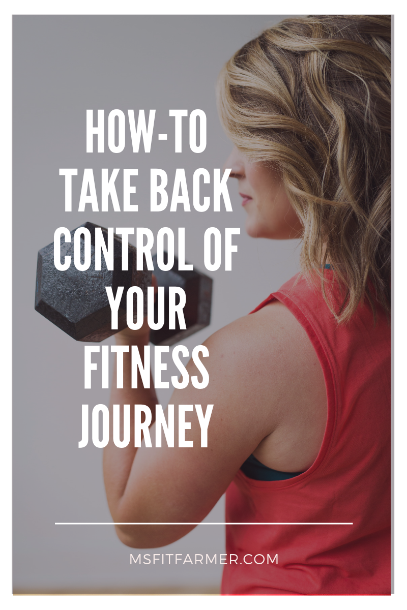 Personal Trainer holding dumbbell sharing tips on how to take back control of your fitness journey