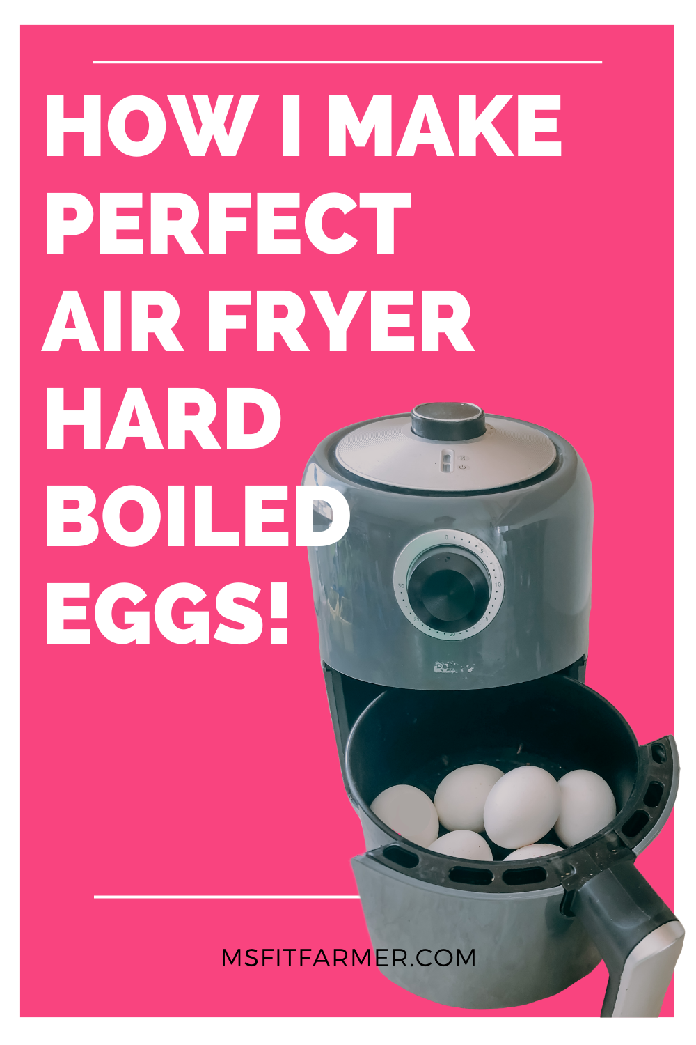 Make Perfect Hard Boiled Eggs in the Air Fryer (1 Ingredient, No Water!)